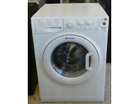 c005 white hotpoint 8kg 1350spin A** rated washing machine come with warranty can be delivered