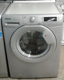 n228 silver hoover 8kg 1600spin A++ rated washing machine comes with warranty can be delivered