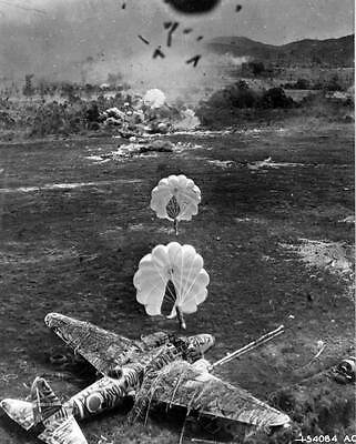 WWII B&W Photo Japanese Airfield  Attack  WW2 World War Two New Guinea  / 6049
