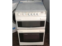BB505 white cannon 55cm double oven gas cooker comes with warranty can be delivered or collected