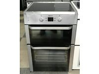 a190 stainless steel beko 60cm double oven ceramic induction hob electric cooker comes with warranty
