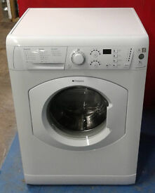 b454 white hotpoint 7kg 1400spin washing machine comes with warranty can be delivered or collected