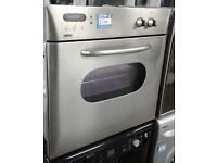 C439 stainless steel zanussi single integrated electric oven comes with warranty can be delivered