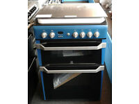 E382 blue indesit double oven gas cooker new with manufacturers warranty can be delivered