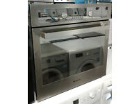 q213 stainless steel & mirror finish hotpoint single electric oven comes with warranty