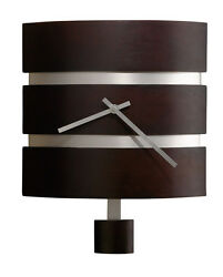 HOWARD MILLER CONTEMPORARY  BLACK COFFEE FINISH WALL CLOCK - MORRISON- 625-404