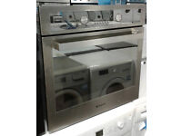 j213 stainless steel & mirror finish hotpoint single electric oven comes with warranty