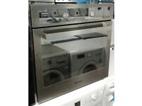 y213 stainless steel & mirror finish hotpoint single electric oven comes with warranty