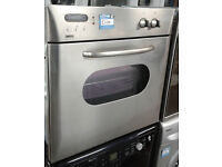 p439 stainless steel zanussi single integrated electric oven comes with warranty can be delivered