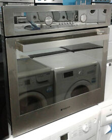 A213 stainless steel & mirror finish hotpoint single electric oven comes with warranty can deliver