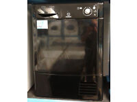 M483 black indesit 8kg condenser dryer comes with warranty can be delivered or collected