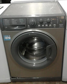 I555 graphite hotpoint 6kg 1400spin A+ rated washing machine comes with warranty can be delivered