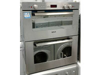 D214 stainless steel bosch integrated double built under electric oven comes with warranty