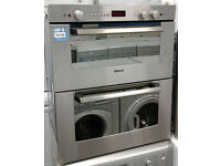 *214 Steel, Bosch, Intergrated, Double Oven, Electric Cooker, Comes With Warranty & Can Be Delivered