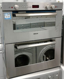 p214 stainless steel bosch integrated double built under electric oven comes with warranty