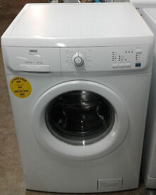 b468 white zanussi 6kg 1600spin washing machine comes with warranty can be delivered or collected