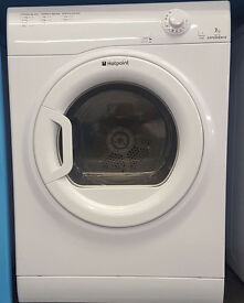 V97 white hotpoint 7kg vented tumble dryer comes with warranty can be delivered or collected