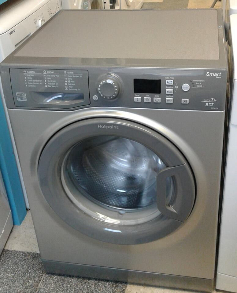 G146 graphite hotpoint 7kg 1200spin A++ rated washing machine new graded with 12 month warranty