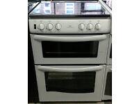 a522 white new world 60cm double oven gas cooker comes with warranty can be delivered or collected