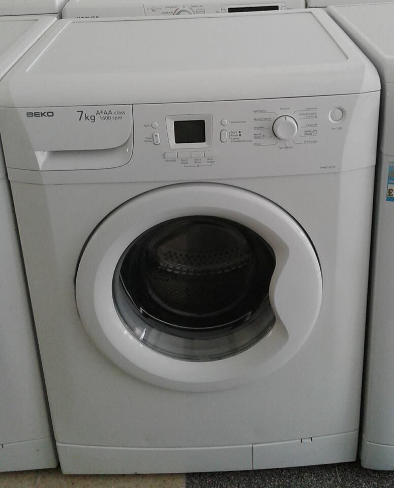 J679 white beko 7kg 1600 spin washing machine comes with warranty can be delivered or collected