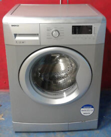 F541 silver beko 7kg 1500 spin washing machine comes with warranty can be delivered or collected