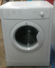 p049 white indesit 6kg vented dryer comes with warranty can be delivered or collected