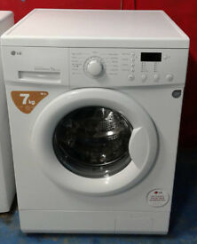 K349 white lg 7kg 1200spin washing machine comes with warranty can be delivered or collected