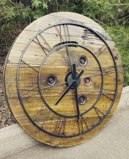 Reclaimed recycled large feature wall clock classical modern