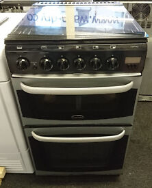 E128 black & silver cannon 50cm gas cooker comes with warranty can be delivered or collected