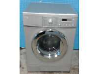 b364 silver LG 7.5kg 1600spin washing machine comes with warranty can be delivered or collected