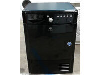q027 black indesit 7.5kg condenser dryer comes with warranty can be delivered or collected