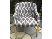 Gorgeous bespoke newly upholstered Tub chair