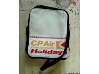Vintage retro 1970s CP Air Canadian Pacific Holidays Flight Bag, Indie Hipster