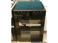 v419 black stoves 60cm double oven ceramic hob electric cooker new with manufacturers warranty