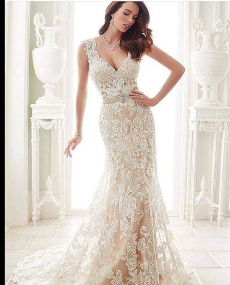 d003New  lace chiffon Wedding dress Bridal Gown custom size2 4 6 8 10++