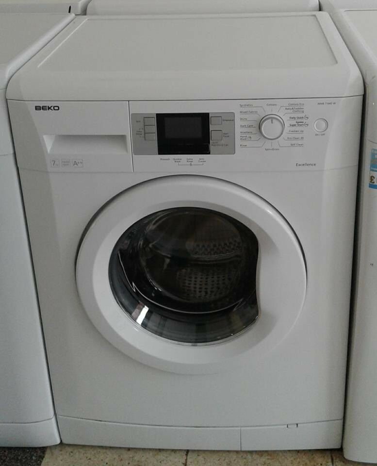 J677 white beko 7kg 1600 spin washing machine comes with warranty can be delivered or collected