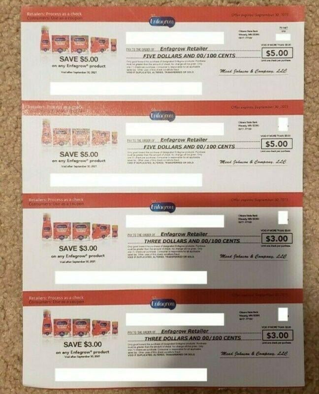 Enfamil Enfagrow Coupons for $16 expires 9-30-21