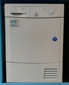 e485 white indesit 8kg condenser dryer comes with warranty can be delivered or collected