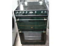 a507 green belling 60cm ceramic hob double oven electric cooker comes with warranty can be delivered
