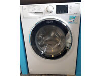 b455 white hotpoint 8kg A*** washing machine comes with warranty can be delivered or collected
