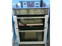 a589 stainless steel stoves 60cm double oven ceramic hob electric cooker new with warranty