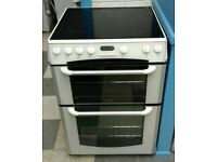 741 white belling 60cm double oven ceramic electric cooker with warranty can be delivered or collect