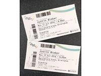 2 x Standing Justin Bieber Tickets - Birmingham 17th October