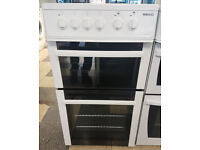 a494 white beko 50cm ceramic hob electric cooker comes with warranty can be delivered or collected