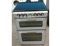 a075 silver new world 60cm ceramic double oven electric cooker comes with warranty can be delivered