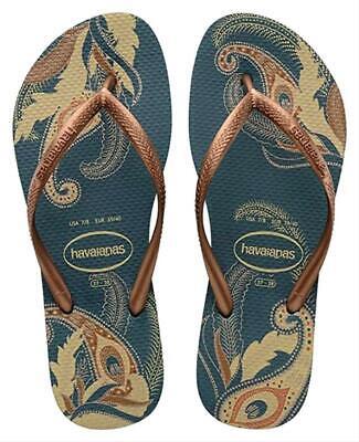Havaianas Women's Slim Organic Petroleum Sandals 8M/9-10W US/39-40 BR