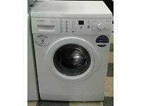 O199 white bosch 7kg 1400spin washing machine comes with warranty can be delivered or collected