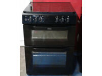 c511 black belling 60cm double electric oven gas hob dual fuel cooker comes with warranty