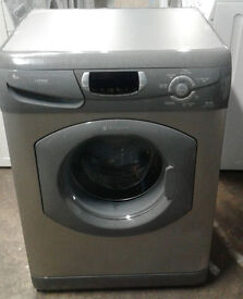 b248 graphite hotpoint 6kg 1600spin washing machine comes with warranty, can be delivered
