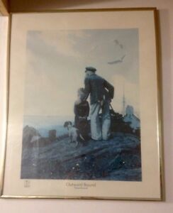 Rare 1927 Licensed Norman Rockwell Print 'Outward Bound'
